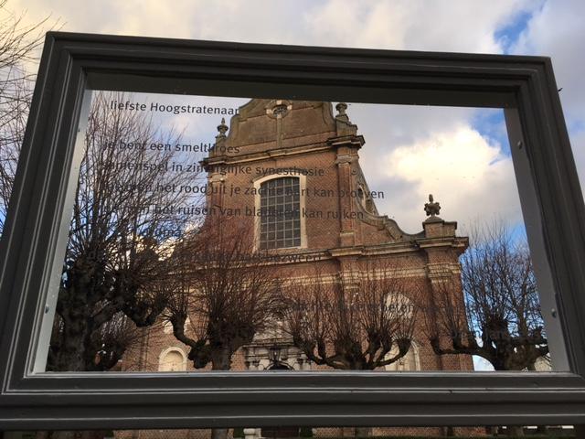 Gedichtenroute: fotokader begijnhof Hoogstraten