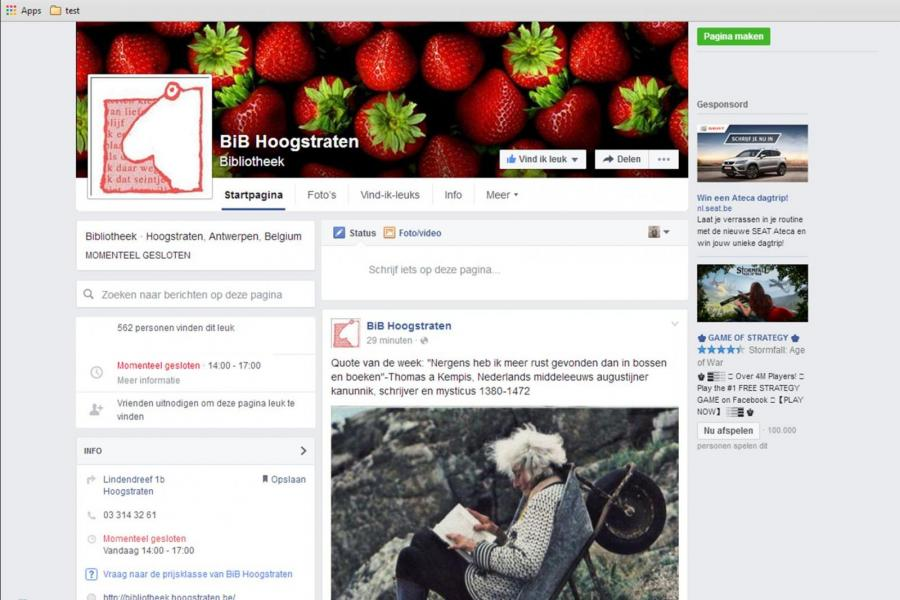 Facebookpagina BiB Hoogstraten