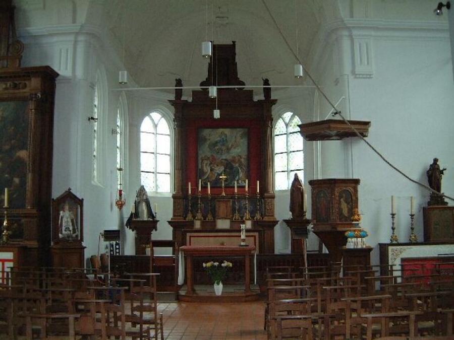 Interieur Sint-Luciakapel Meersel-Dreef