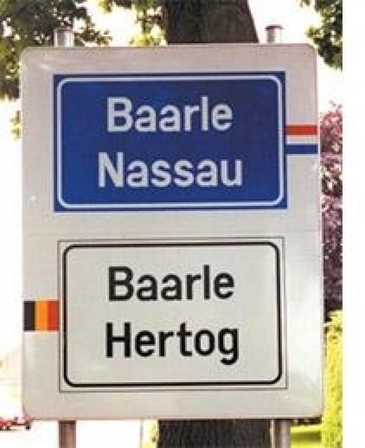 Bord Baarle-Hertog-Nassau