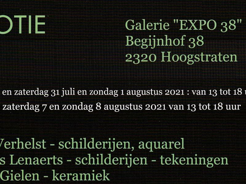 "Flyer  galerie "" Expo 38"" © Nicole Gielen"