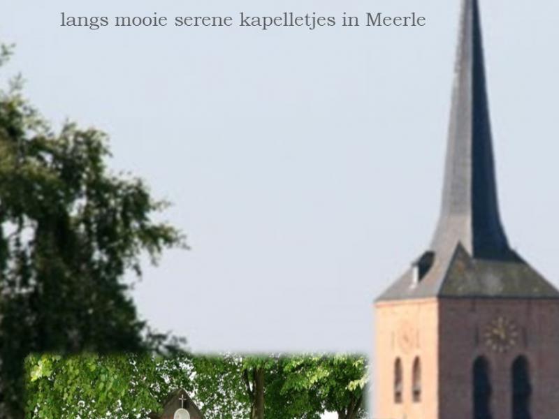 Wandel of fiets in een landelijke omgeving langs mooie kapelletjes in Meerle © Halte Merlet