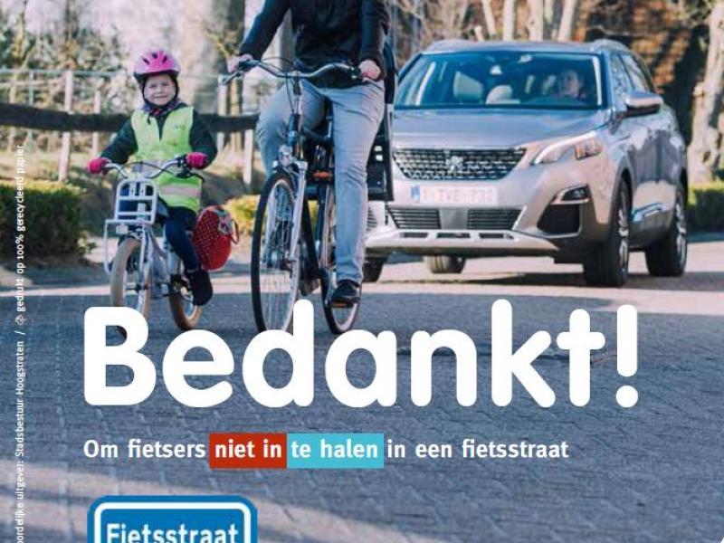 school-straten, meerpaal en kiekeboe, fietsstraat
