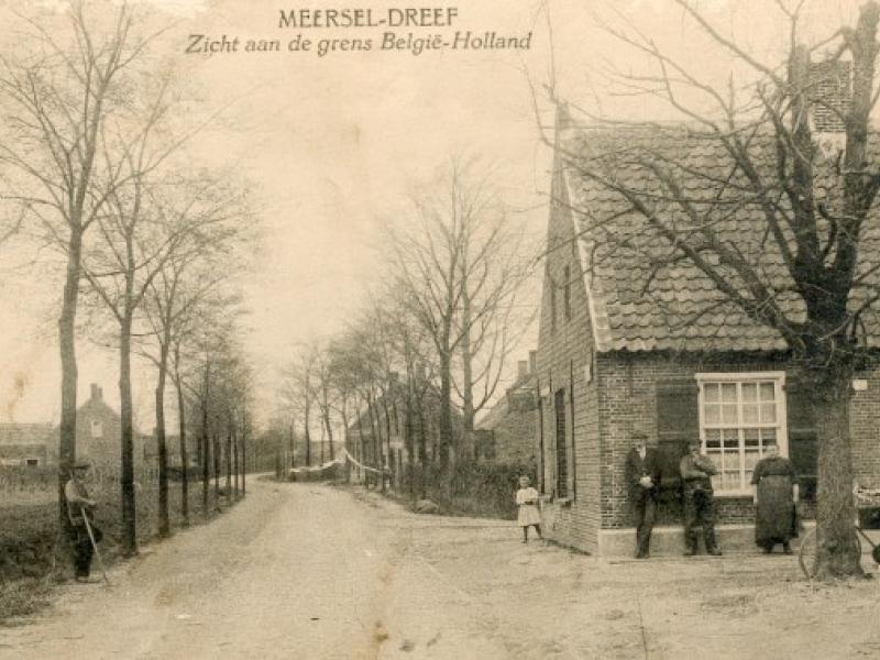 Oude postkaart Meersel-Dreef