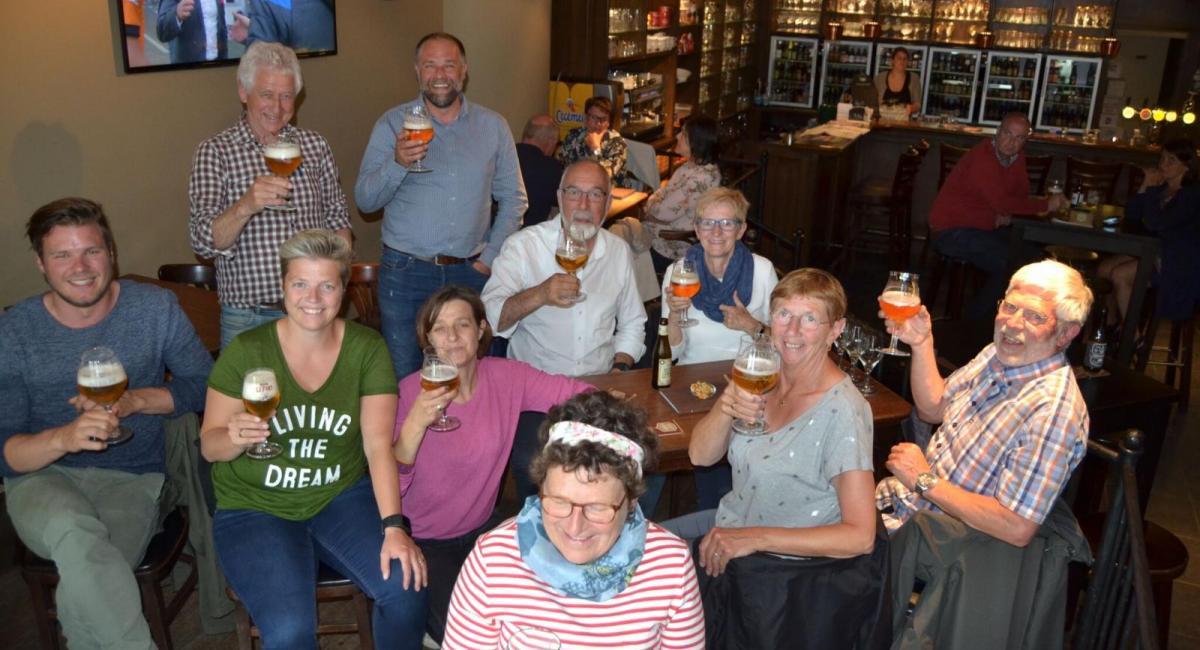 Winterse Bierwandeling - foto: 3 in de klok