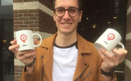 Hannes Tilburgs ontwerpt nieuwe koffiemok
