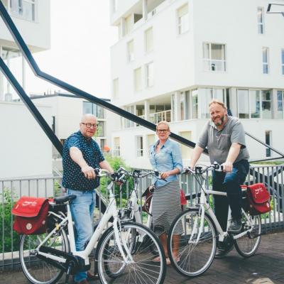Stad en OCMW op de fiets