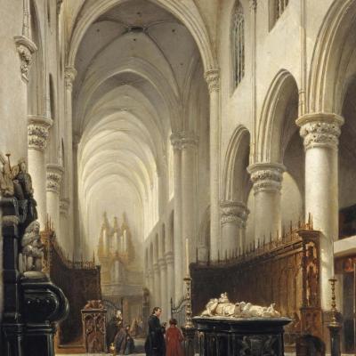Schilderij van J. Bosboom (1843)