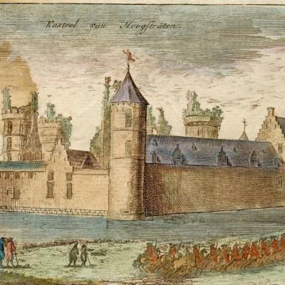 Het kasteel van Hoogstraten in de 17de eeuw